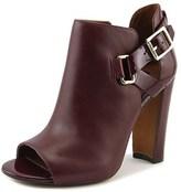 Lauren Ralph Lauren Kadence Women Open-toe Leather Black Ankle Boot.