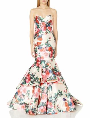 Mac Duggal Women's Sweetheart Floral Mermaid Gown