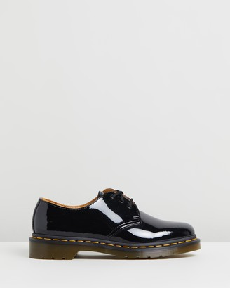 Dr. Martens Women's Black Brogues & Loafers - Womens 1461 Patent 3-Eye Shoes - Size 4 at The Iconic