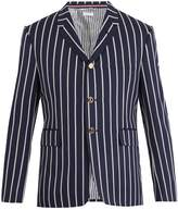 Thom Browne Single-breasted striped wool-cotton blend blazer