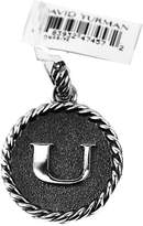 "David Yurman AMAZING SOLID STERLING SILVER INITIAL ""U"" 23 mm ROUND PENDANT"