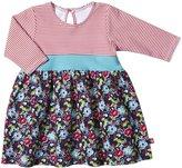 Zutano Oopsie Daisy Dress (Baby)-Navy-6 Months