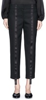 The Row 'Val' satin stripe virgin wool cropped suiting pants