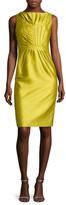 Valentino Silk Pleated Sheath Dress