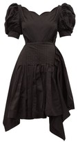 Preen by Thornton Bregazzi Felixa Scalloped Silk-charmeuse Dress - Womens - Black