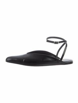 Balenciaga Leather Flats Black