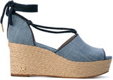 MICHAEL Michael Kors Hastings wedged sandals - women - Cotton/Artificial Leather - 5