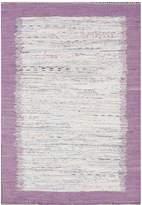 nuLoom Talia Cotton Rug - Lavender
