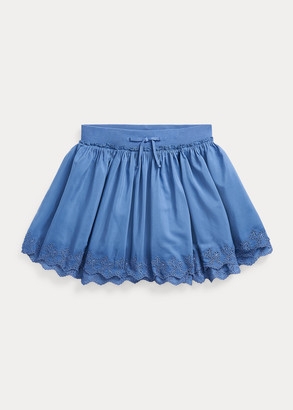 Ralph Lauren Eyelet Cotton Scooter Skirt