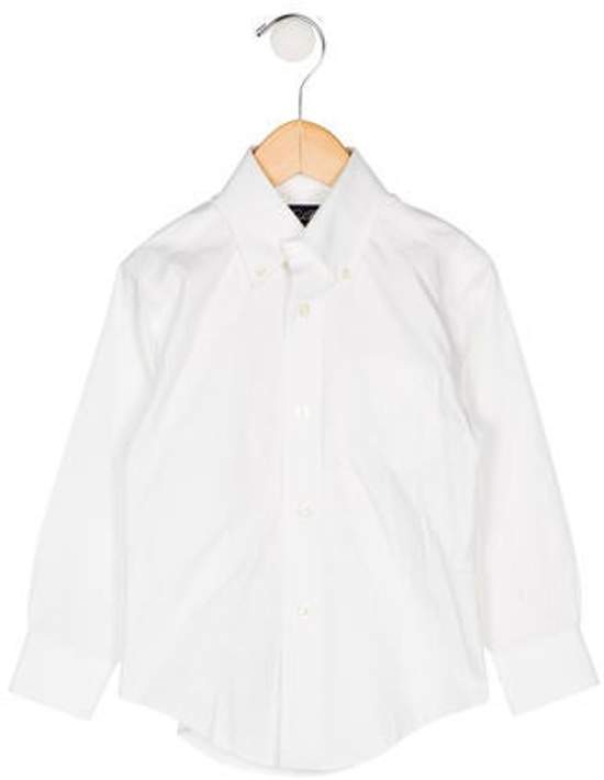 Brooks Brothers Boys' Button-Up Shirt white Boys' Button-Up Shirt