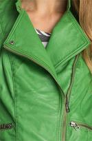 Bernardo Leather Moto Jacket (Regular & Petite) (Nordstrom Exclusive)