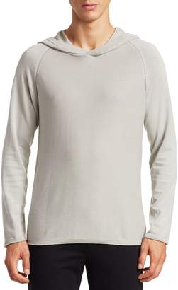 Saks Fifth Avenue MODERN Garment-Dyed Cotton Hooded Sweater