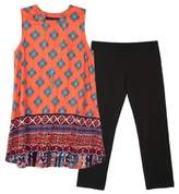 Ally B Girl's Two-Piece Tapestry Top and Pants