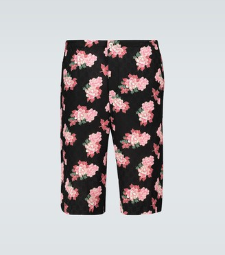 Gucci Floral GG printed silk shorts