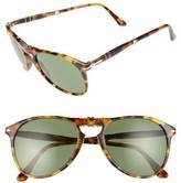Persol Men's Icona 55Mm Polarized Folding Sunglasses - Madre Terra/ Green