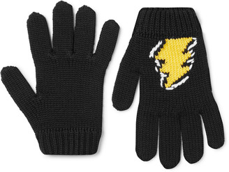 Prada Intarsia Virgin Wool Gloves