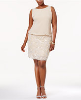 Adrianna Papell Plus Size Embellished Blouson Dress