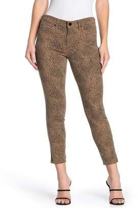 William Rast Perfect Ankle Animal Print Skinny Jeans