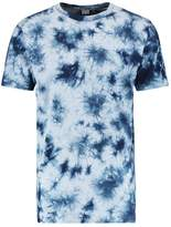 Urban Classics Tonal Batik Print Tshirt Light Blue/dark Blue