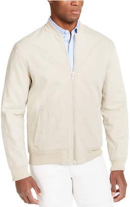 INC International Concepts Inc Men Washed Denim Bomber Jacket