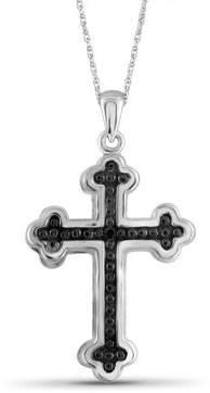 Black Diamond Jewelersclub JewelersClub Accent Sterling Silver Cross Pendant