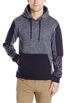Southpole Men's Hooded Pull Over Fleece with Biker Details and All Over Prints