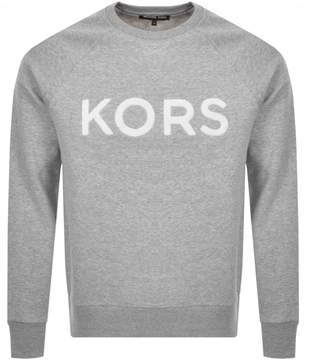 Michael Kors Crew Neck Terry Logo Sweatshirt Grey