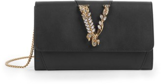 Versace Virtus Leather Wallet-On-Chain