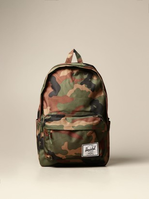 Herschel Backpack In Camouflage Canvas