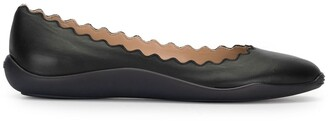 Chloé Scallop-Trim Ballerina Shoes
