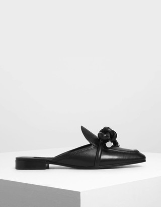 Charles & KeithCharles & Keith Leather Bow Loafer Sliders