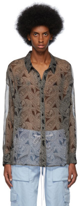 Nahmias Black Paisley Shirt