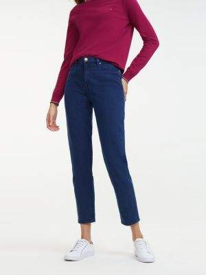 Tommy Hilfiger Mom Fit Crest Embroidery Jeans