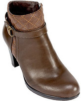 Rialto Ankle Boots with Buckle Detail- Popcorn