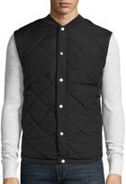 Arizona Ribbed-Collar Quilted Vest
