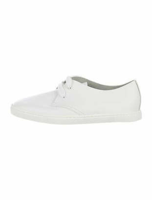 Hermes Leather Low-Top Sneakers White