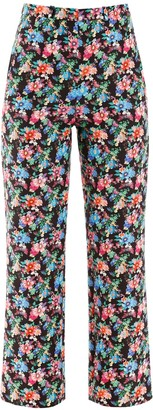 Paco Rabanne Floral Print Pants