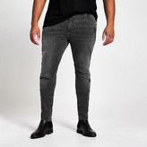 River Island Big and Tall black wash Ollie spray on jeans