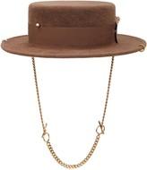 Thumbnail for your product : Ruslan Baginskiy Piercing Canotier Felt Hat