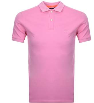Superdry Classic Micro Pique Polo T Shirt Pink