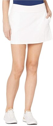 Nike 15 Flex Fairway Skirt Solid (White/White) Women's Skort