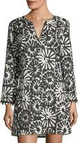 Tory Burch Pomelo V-Neck Floral-Print Beach Coverup Tunic