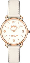 Coach 14502790 Delancey Slim rose gold-plated and leather watch