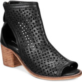 Kelsi Dagger Brooklyn Gateway Perforated Cutout Block-Heel Booties
