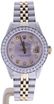 Rolex Datejust 6917 Stainless Steel/Yellow Gold Pink Dial wDiamonds Automatic 26mm Womens Watch 1979