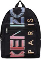 Kenzo Black Large Logo Sport Backpack