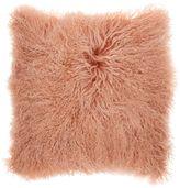 Biba Pink mongolian lamb cushion