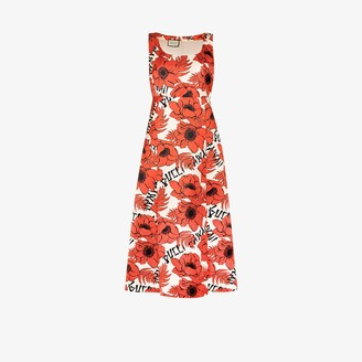 Gucci Floral Print Dress