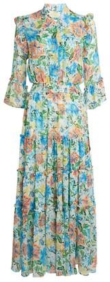 MISA Pamelina Floral Print Dress