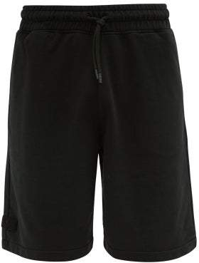 Marcelo Burlon County of Milan Wing Patch Cotton Loop Back Jersey Shorts - Mens - Black